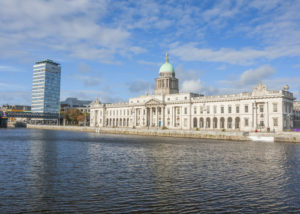 Dublin Custom house at the Liffey river in Dublin, Ireland